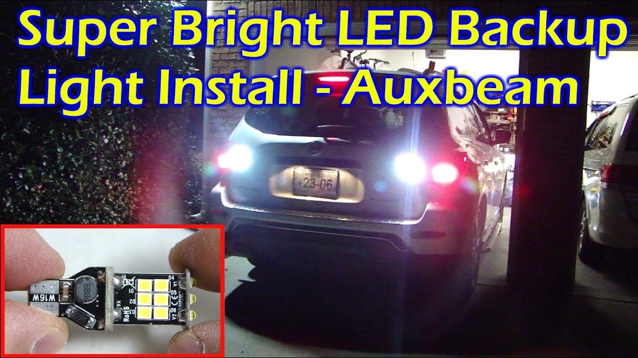 Install Super Bright Backup Led Light Auxbeam T15 Nissan Pathfinder