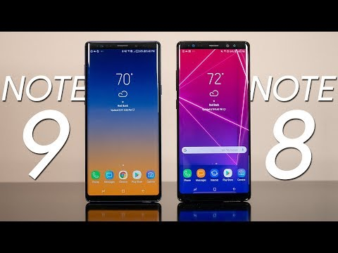 Samsung Galaxy Note 9 vs Samsung Galaxy Note 8