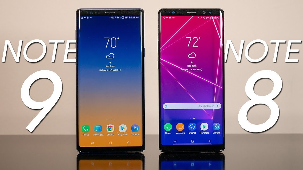 EL GALAXY NOTE9 FRENTE AL GALAXY NOTE8