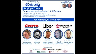 50strong EmployerConnect featuring Uber, Costco & Republic Services