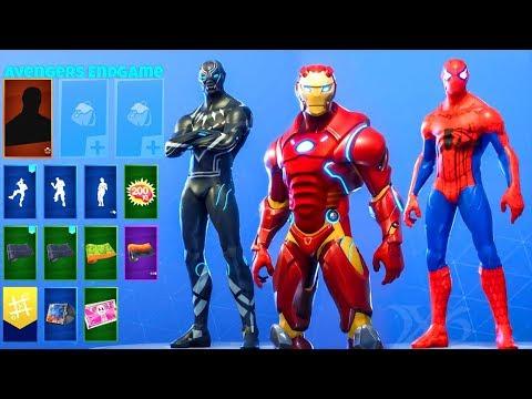 avengers fortnite skins