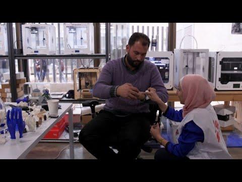 Jordanie: des blessés retrouvent l\'espoir avec des prothèses 3D