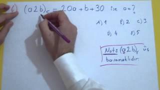 Taban Aritmetiği Soru Çözümü Şenol Hoca Matematik