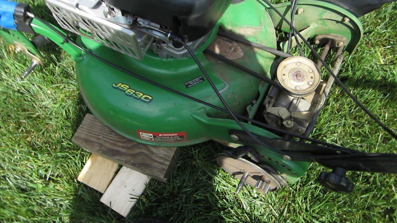 John Deere JS63C Lawn Mower  Service TransmissionSelf