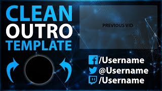 Clean Outro Template 2017 | Speedart | FREE Download