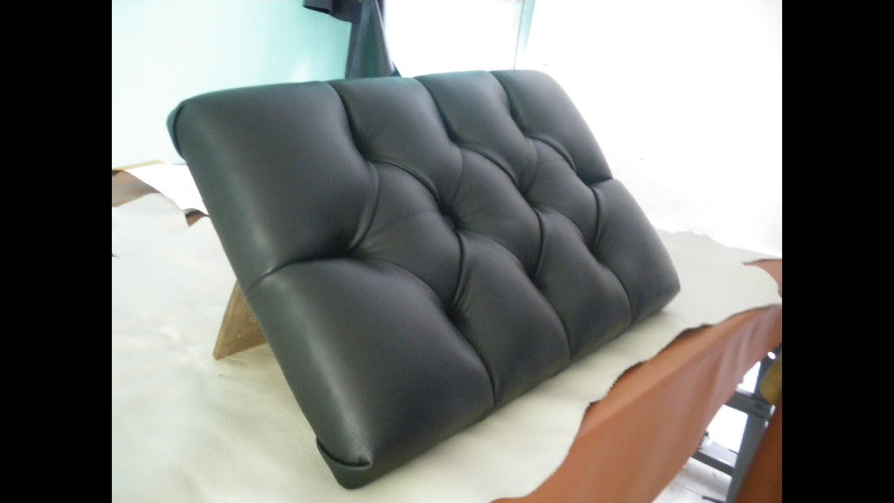Diamond Tufting Designs Leather Upholstery Youtube