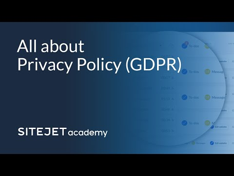 Sitejet Academy Tutorial: Privacy thumbnail