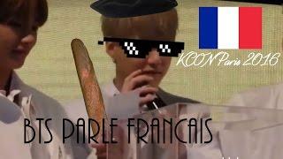 BTS Speaking French Compilation (KCON Paris 2016)