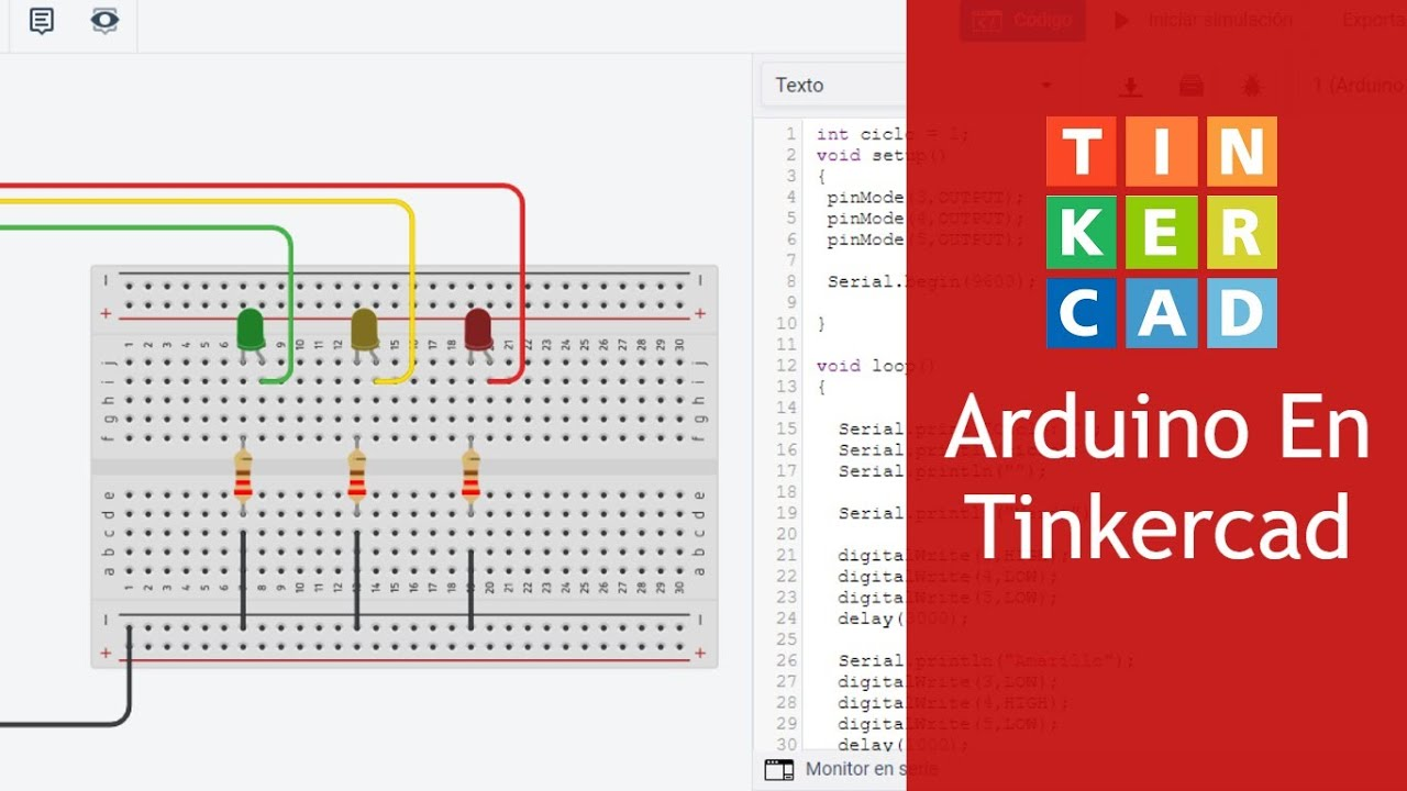 mBlock5 a Código Arduino [Módulo 1 Actividades] LED en Tinkercad