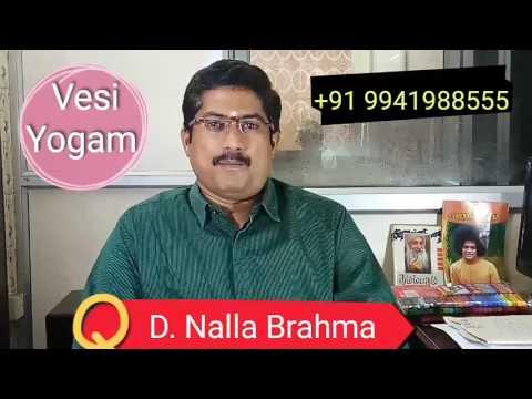 Vesi Yogam -  Sooriyan based Raja Yogam - D.Nalla Brahma