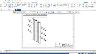 Solid Edge 2020 Trick and Tip: การใช้งาน Column Cut Length ในการออกตาราง Part list ใน Draft