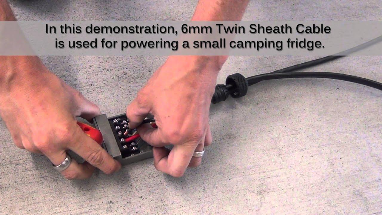 Caravan Trailer Wiring Diagram 12 Pin Metal Trailer Plug Amp Socket Wiring Demonstration