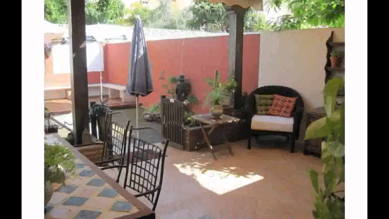 Decoraci n exteriores patios youtube - Parasol de jardin ...