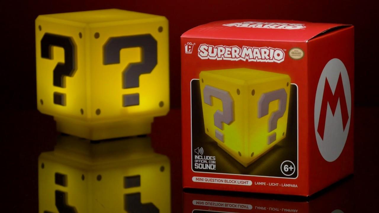 Super Mario™ Mini Question Block Light | Paladone - YouTube