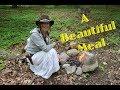 Bushcraft Meal in the Woods- Steak, Morels & Ramps