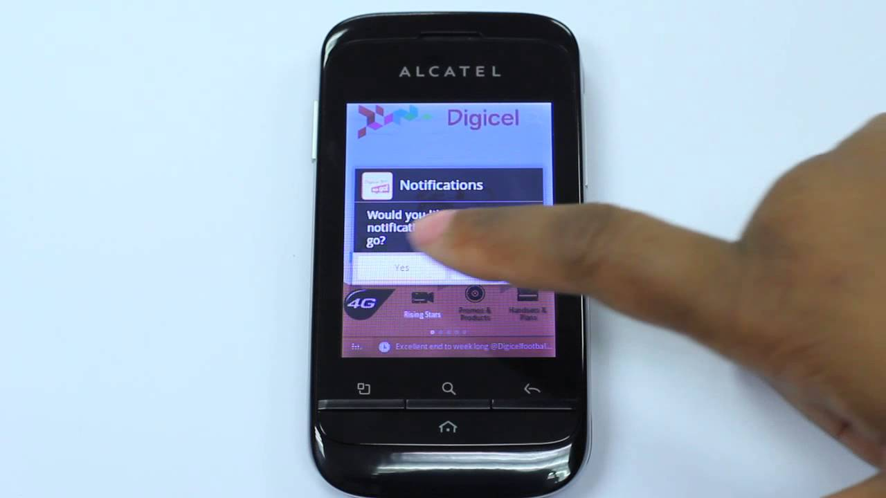 ALCATEL ONE TOUCH and DIGICEL: Your world in ONE TOUCH!!!