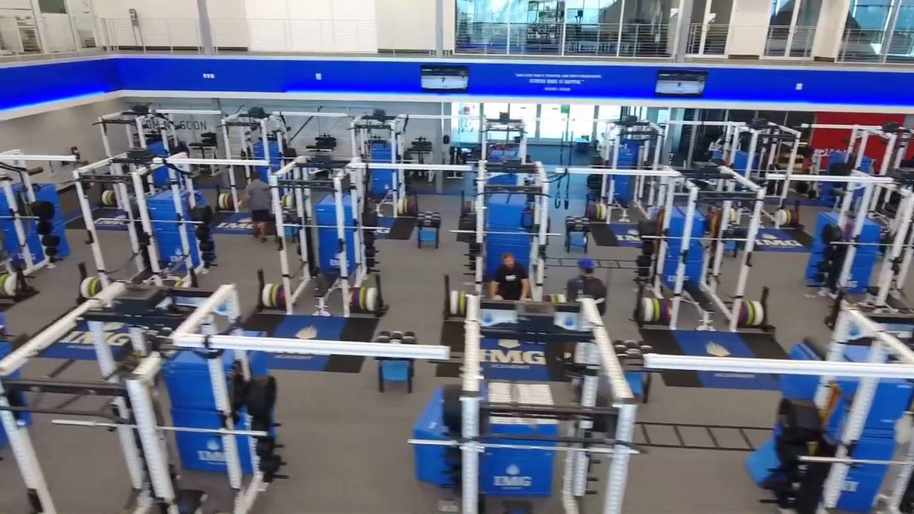 Img: IMG Academy Weight Room: Aerial Tour