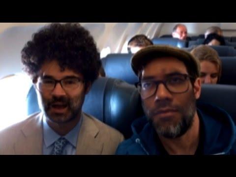Adam Buxton & Richard Ayoade Face Swap - Travel Man S03E03