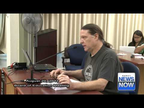 Mitch Kahle - Activist testifies at Board of Education meeting Aug 20