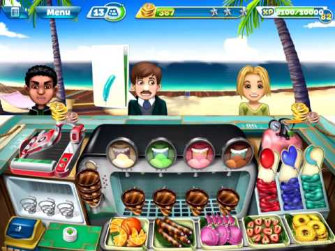 【Cooking Fever】Ice Cream Bar Level 40 (3 stars)