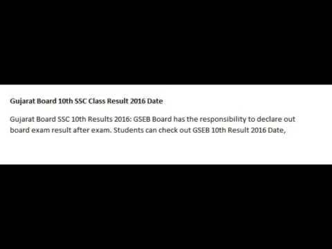 Gujarat Board HSC Result 2016 | Check GSEB SSC Result 2016 Date