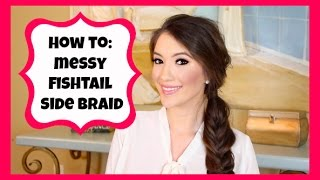 HOW TO: MESSY FISHTAIL SIDE BRAID! | Blair Fowler Thumbnail