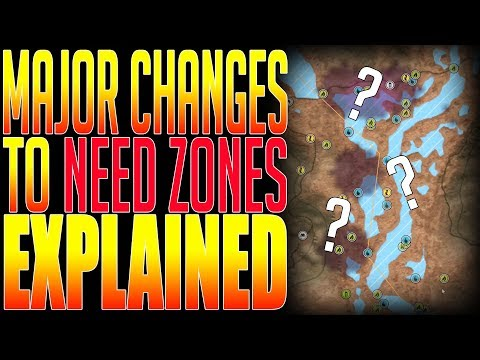 Major Change in Need Zones! in theHunter Call of the Wild!