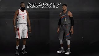 NBA 2K19 Rosters |Rockets @ Mavericks | NBA 2K17 Gameplay 2018-19