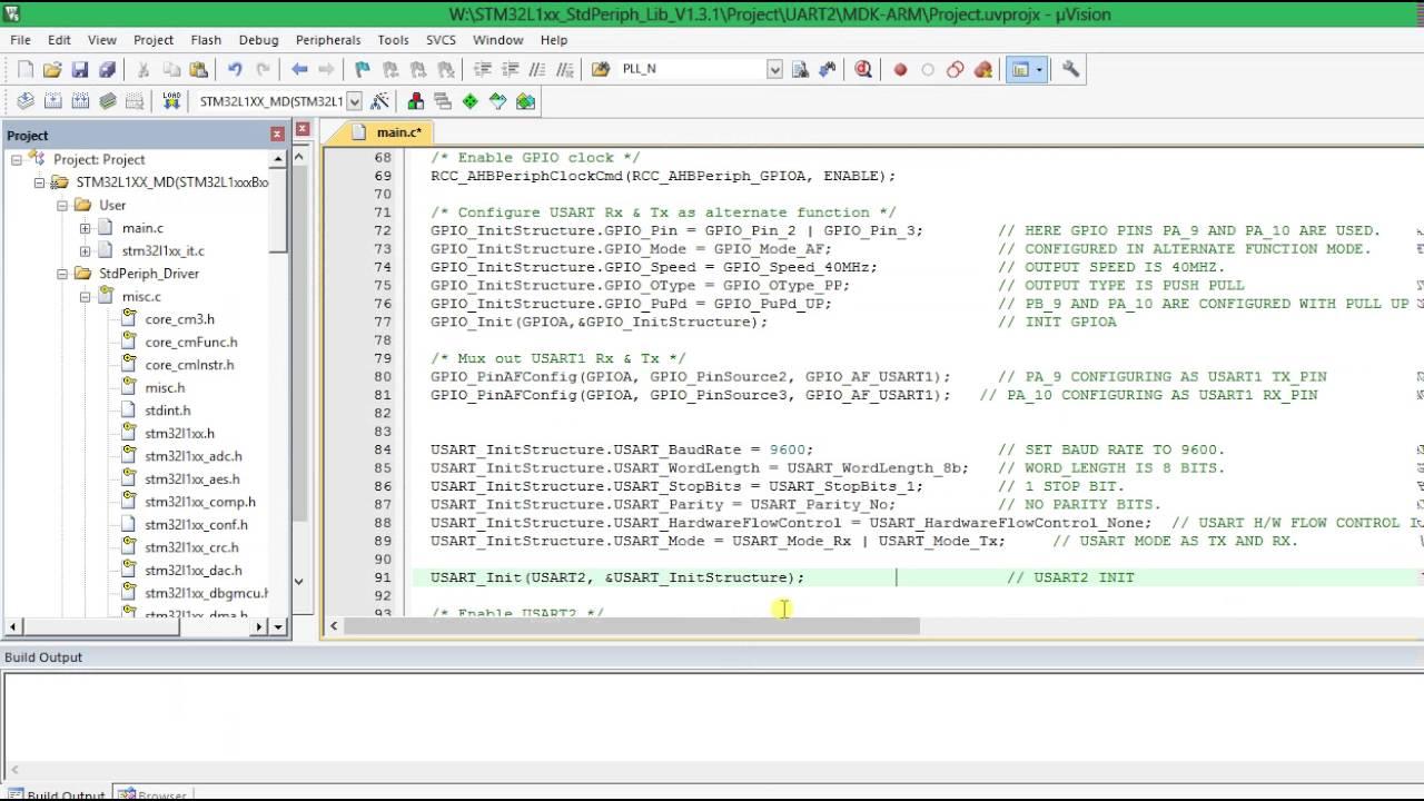 6  STM32L152 UART2 PROGRAMMING