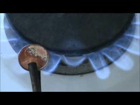 Melting Penny to Obtain Zinc