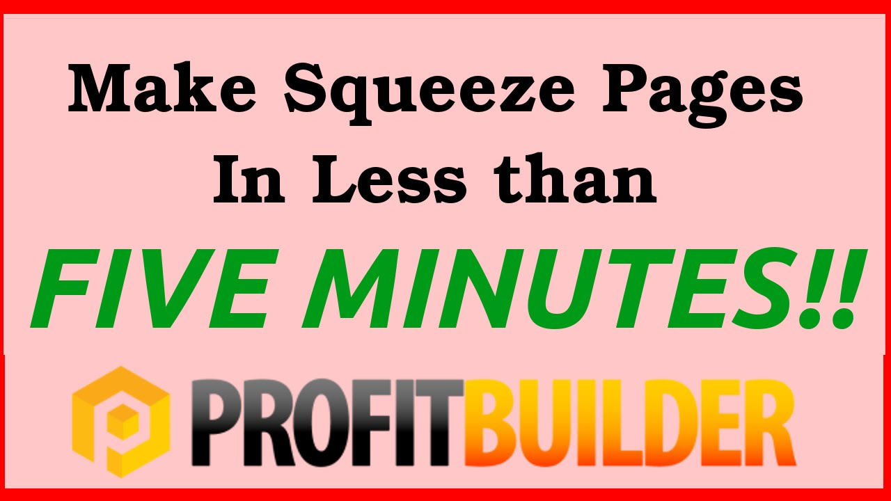 how to develop a squeeze page