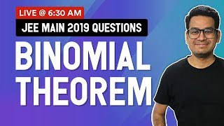 Binomial Theorem for JEE Mains 2020 | Past Year Questions with Tricks and Strategies | MathonGo
