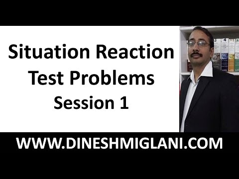 Best Tricks and Method for Situation Reaction Test Problems  Session 1