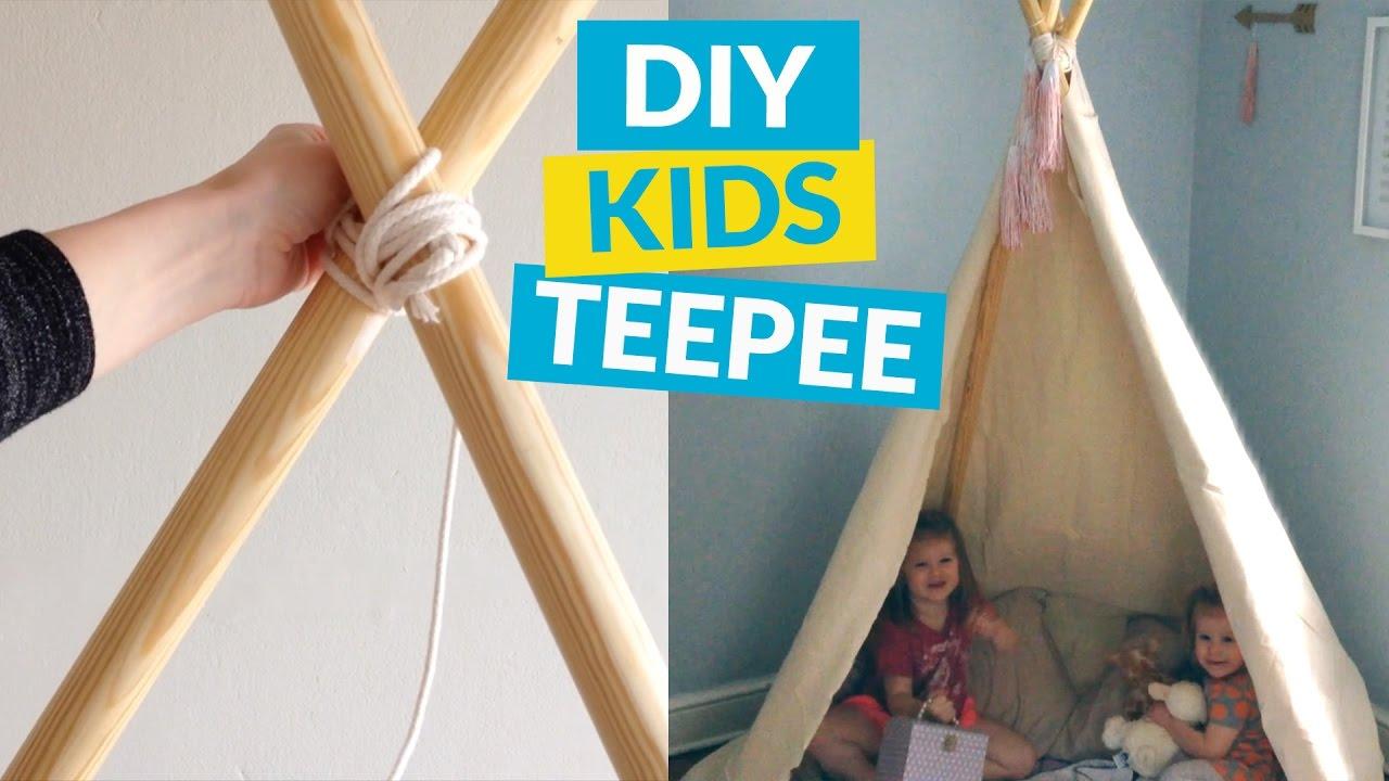 No Sew Kids TeePee  sc 1 st  YouTube & No Sew Kids TeePee - YouTube