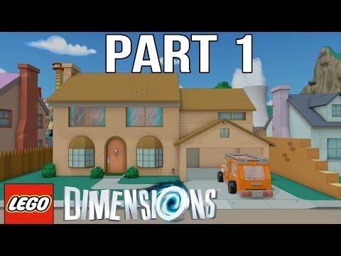 LEGO Simpsons Walkthrough Part 1 - LEGO Dimensions The Simpsons Level Pack