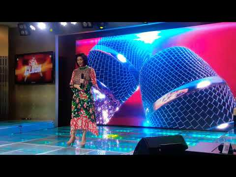 REGINE VELASQUEZ sings ArawGabi  at the press launch of THE CLASH