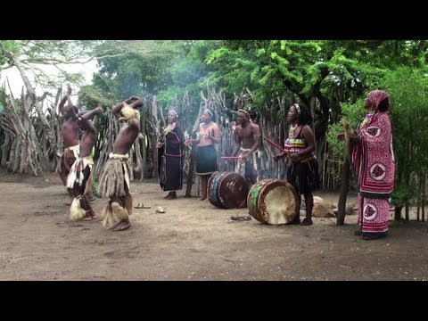 Typical Zulu village and dances  (South Africa)