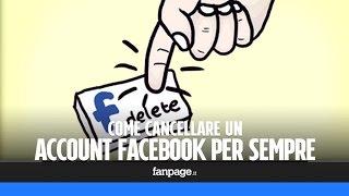 Come cancellare un profilo Facebook per sempre thumbnail