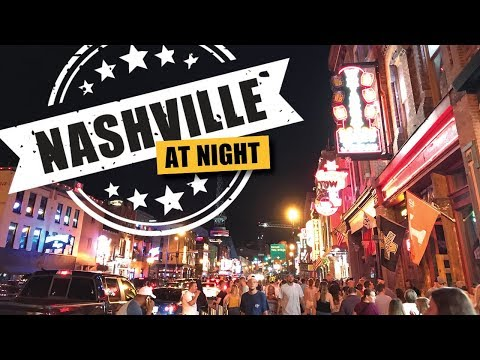 Downtown Nashville Nightlife Fun! Broadway, Midtown, Printer's Alley