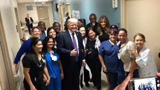 Trump meets with Vegas victims, 1st responders
