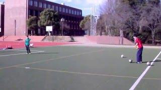 【GK練習】不規則に変化するボールがきたぞ… Goalkeeper training thumbnail