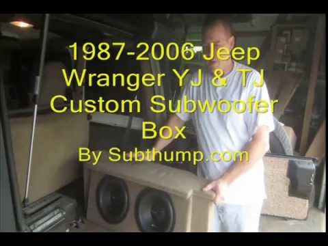 Jeep Wrangler Tj >> 87 06 Jeep Wrangler YT & TJ Custom Subwoofer Box by Subthump com - YouTube