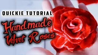 Quickie Tutorial: Handmade Velvet Roses