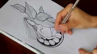 Рисуем гелевой  ручкой(Спасибо за внимание) Подписывайтесь на мой канал, где вы найдете больше интересного: https://www.youtube.com/channel/UCXD2Pq_9..., 2015-05-27T18:56:25.000Z)