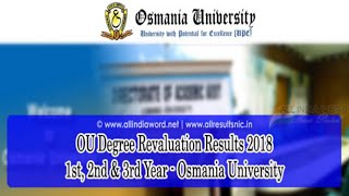 OU Degree Revaluation/Recounting Results 2018 2nd, 4th, 3rd, 1st Sem – Osmania University