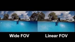 New Version 5.0 Firmware for GoPro HERO4 -  Linear FOV vs WIDE FOV Comparison