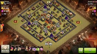 Clash of Clans TH10 vs TH10 Six Golem & Wizard (GoWi) Clan War 3 Star Attack