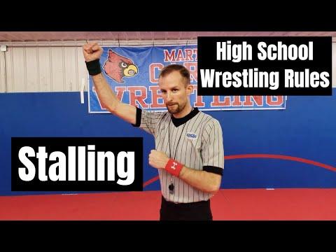 High School Wrestling Rules - Part 12 Stalling