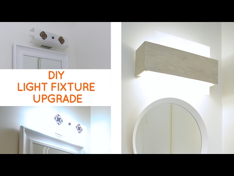 Vanity Light Update : Bathroom Lighting: Quick fix to update a dated bathroom vanity light - YouTube
