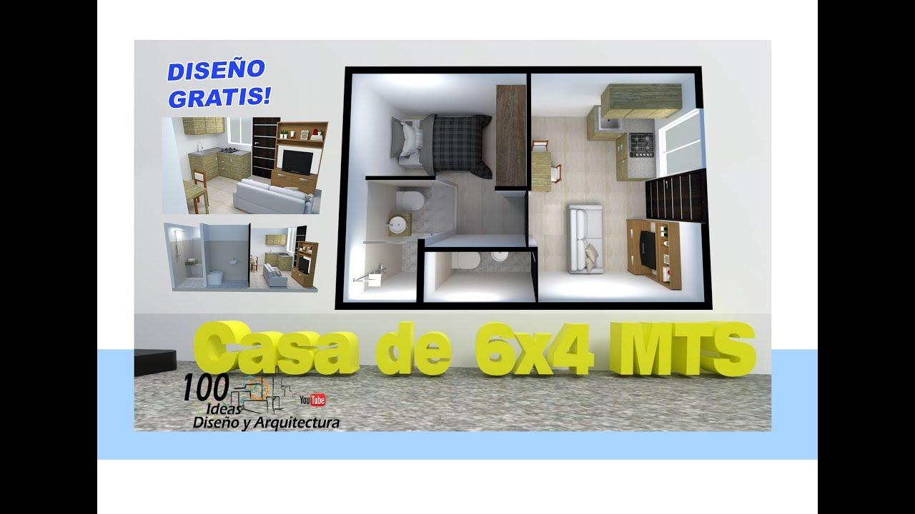 Download CASA DE 6X4 MTS - HOUSE 6X4 free model